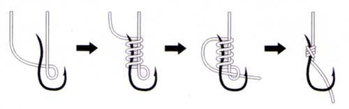 Как правильно привязать крючок рыболовный