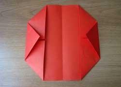 1469718663_perviy-sposob-2 Как сделать из бумаги кошелёк, портмоне, конверт для бумажных денег и мелочи своими руками? Как сделать волшебный кошелек из бумаги: схема с описанием