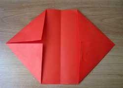 1469718688_perviy-sposob-1 Как сделать из бумаги кошелёк, портмоне, конверт для бумажных денег и мелочи своими руками? Как сделать волшебный кошелек из бумаги: схема с описанием