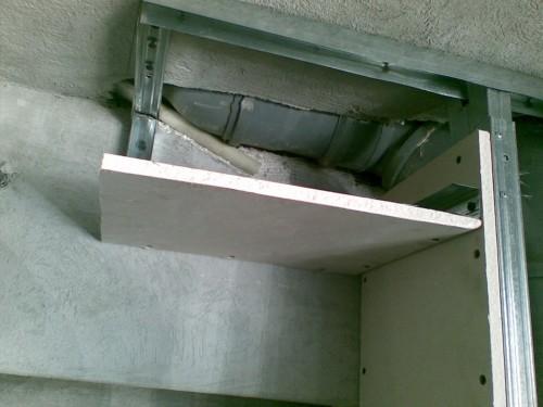 как сделать короб из гипсокартона на стене