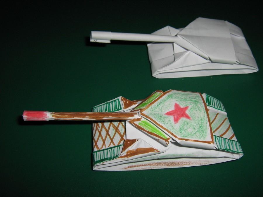1521289190_prostoy-tank Как сделать из бумаги танки. Как сделать танк из бумаги своими руками: простая инструкция