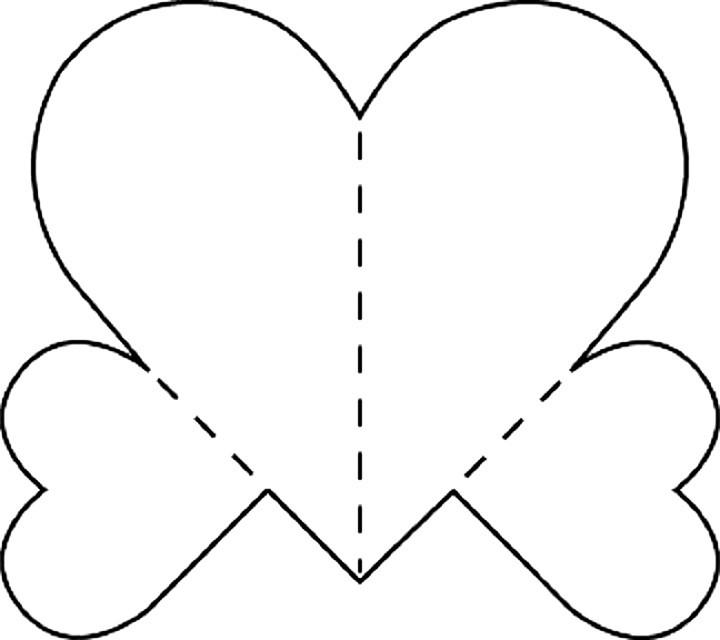 Открытка с сердцем схема, анимации