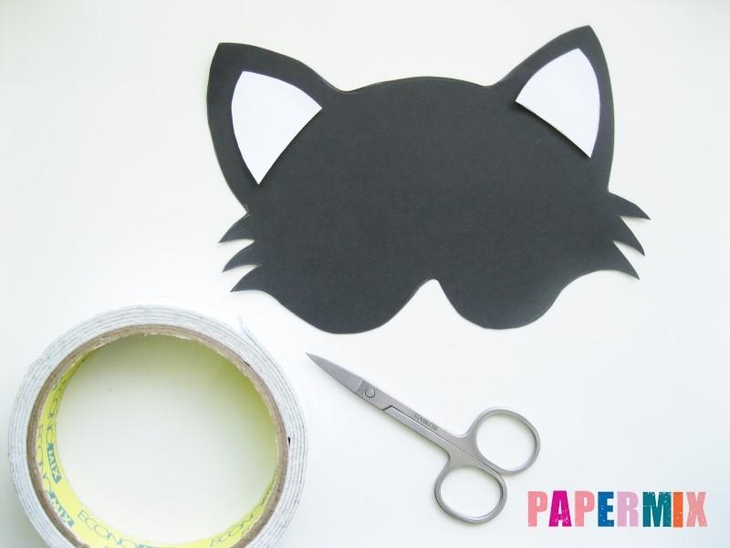 1527089421_maska-koshka-4 Как сделать маску из бумаги своими руками. Маски на голову из бумаги — шаблоны, схемы. Как сделать объемную маску из бумаги
