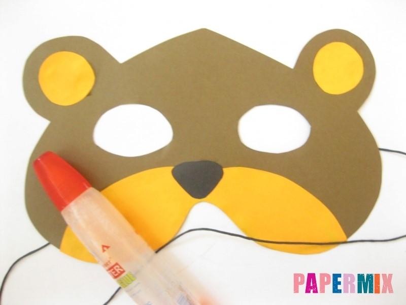 1527089426_maska-medveda-iz-bumagi-12 Как сделать маску из бумаги своими руками. Маски на голову из бумаги — шаблоны, схемы. Как сделать объемную маску из бумаги