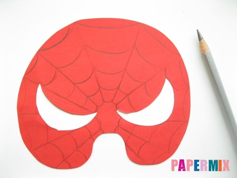 1527089435_maska-cheloveka-pauka-iz-bumagi-7 Как сделать маску из бумаги своими руками. Маски на голову из бумаги — шаблоны, схемы. Как сделать объемную маску из бумаги