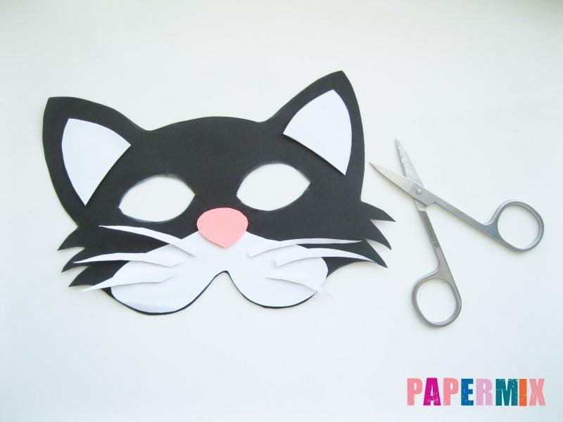 1527089436_maska-koshka-9 Как сделать маску из бумаги своими руками. Маски на голову из бумаги — шаблоны, схемы. Как сделать объемную маску из бумаги