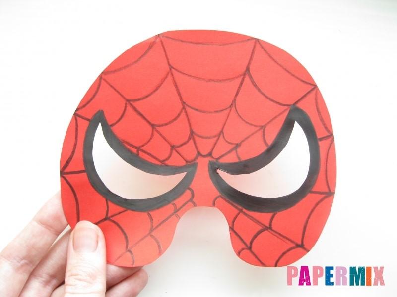 1527089443_maska-cheloveka-pauka-iz-bumagi-9 Как сделать маску из бумаги своими руками. Маски на голову из бумаги — шаблоны, схемы. Как сделать объемную маску из бумаги