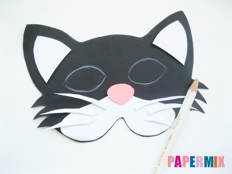 1527089444_maska-koshka-8 Как сделать маску из бумаги своими руками. Маски на голову из бумаги — шаблоны, схемы. Как сделать объемную маску из бумаги