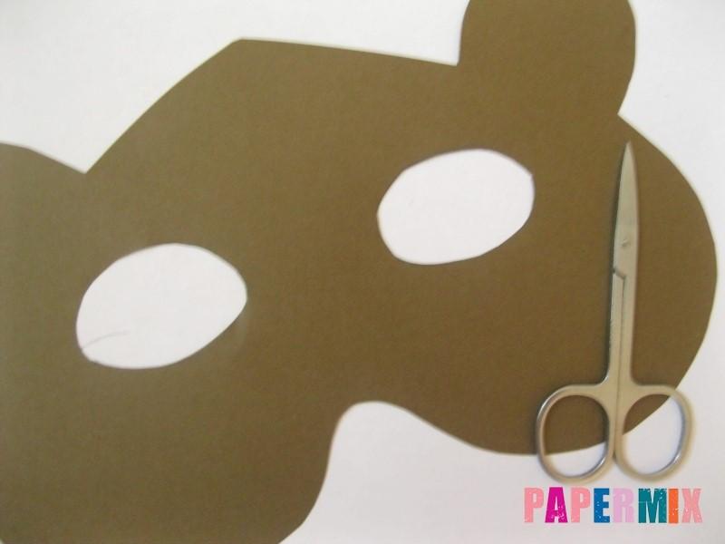 1527089447_maska-medveda-iz-bumagi-5 Как сделать маску из бумаги своими руками. Маски на голову из бумаги — шаблоны, схемы. Как сделать объемную маску из бумаги