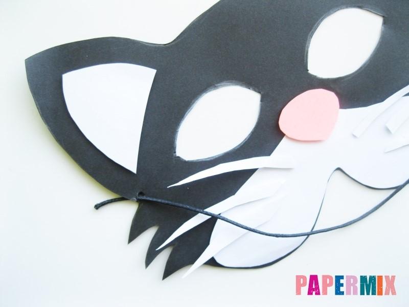 1527089448_maska-koshka-10 Как сделать маску из бумаги своими руками. Маски на голову из бумаги — шаблоны, схемы. Как сделать объемную маску из бумаги
