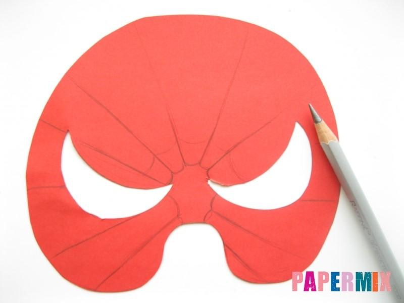 1527089457_maska-cheloveka-pauka-iz-bumagi-6 Как сделать маску из бумаги своими руками. Маски на голову из бумаги — шаблоны, схемы. Как сделать объемную маску из бумаги