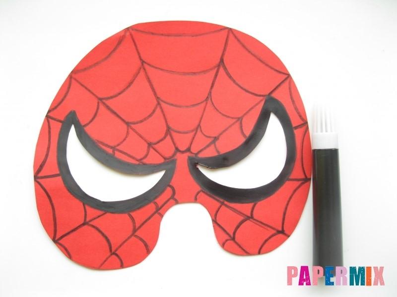 1527089459_maska-cheloveka-pauka-iz-bumagi-8 Как сделать маску из бумаги своими руками. Маски на голову из бумаги — шаблоны, схемы. Как сделать объемную маску из бумаги
