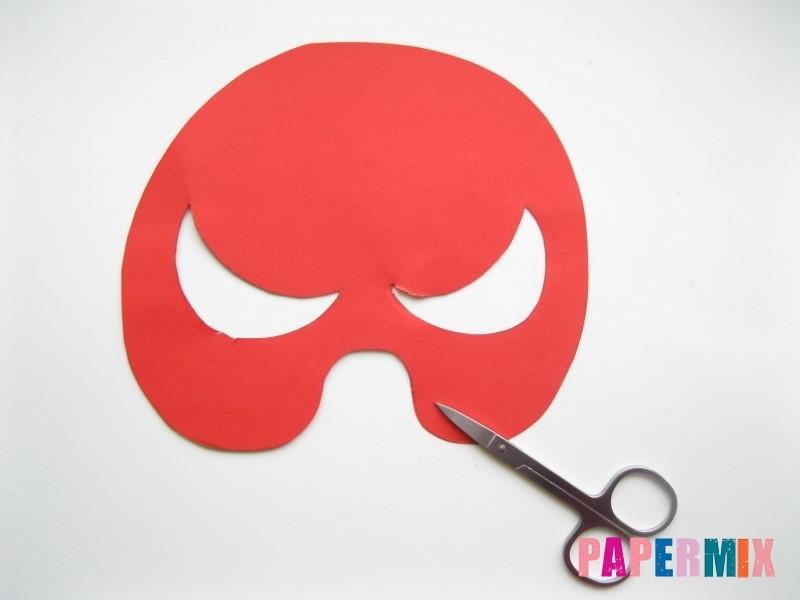 1527089464_maska-cheloveka-pauka-iz-bumagi-5 Как сделать маску из бумаги своими руками. Маски на голову из бумаги — шаблоны, схемы. Как сделать объемную маску из бумаги