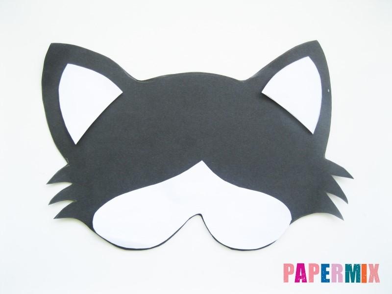 1527089480_maska-koshka-5 Как сделать маску из бумаги своими руками. Маски на голову из бумаги — шаблоны, схемы. Как сделать объемную маску из бумаги