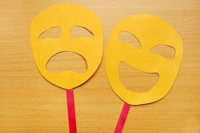 1527089495_prostaya-maska-iz-bumagi Как сделать маску из бумаги своими руками. Маски на голову из бумаги — шаблоны, схемы. Как сделать объемную маску из бумаги