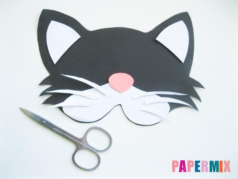 1527089496_maska-koshka-7 Как сделать маску из бумаги своими руками. Маски на голову из бумаги — шаблоны, схемы. Как сделать объемную маску из бумаги