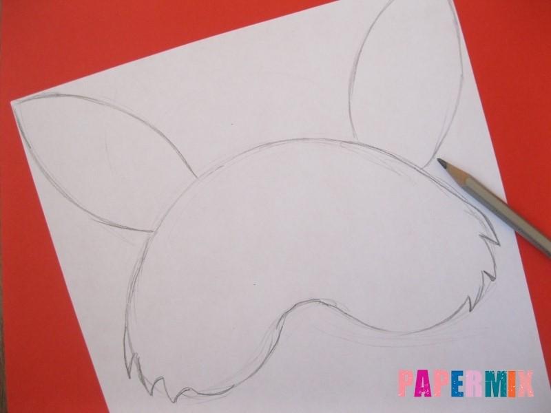 1527089497_maska-zaica-iz-bumagi-3 Как сделать маску из бумаги своими руками. Маски на голову из бумаги — шаблоны, схемы. Как сделать объемную маску из бумаги