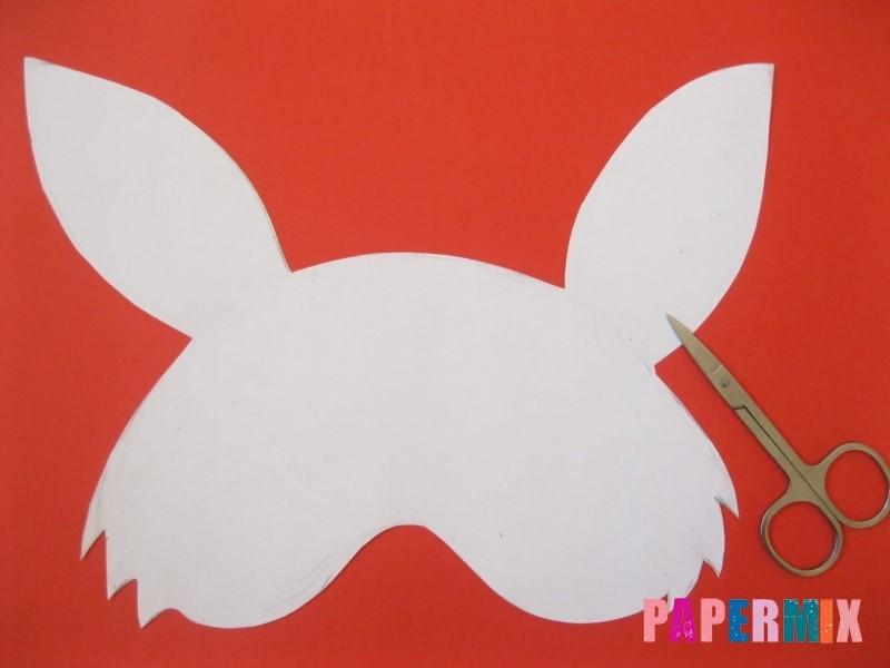 1527089510_maska-zaica-iz-bumagi-4 Как сделать маску из бумаги своими руками. Маски на голову из бумаги — шаблоны, схемы. Как сделать объемную маску из бумаги