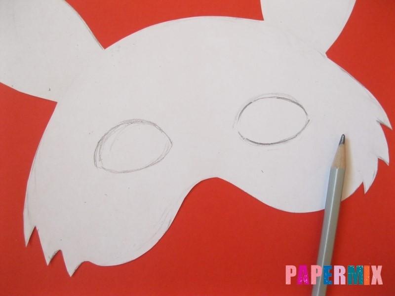 1527089520_maska-zaica-iz-bumagi-5 Как сделать маску из бумаги своими руками. Маски на голову из бумаги — шаблоны, схемы. Как сделать объемную маску из бумаги