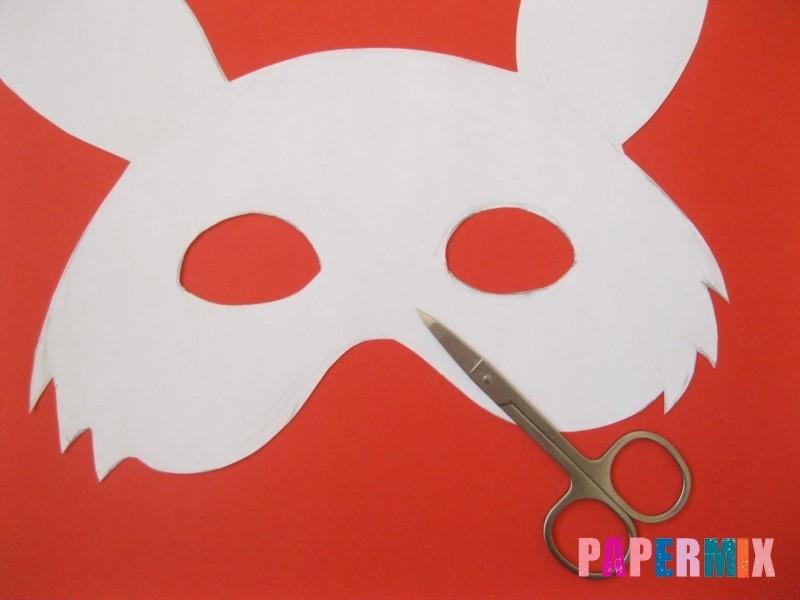 1527089526_maska-zaica-iz-bumagi-6 Как сделать маску из бумаги своими руками. Маски на голову из бумаги — шаблоны, схемы. Как сделать объемную маску из бумаги