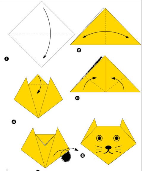 Морда кошки из бумаги шаблон